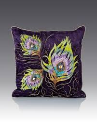 strongwater pillows peacock feather pillow 22 x 11 by strongwater at horchow