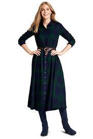 women u0027s long sleeve flannel shirt dress from lands u0027 end