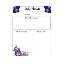 printable newsletter templates free business template