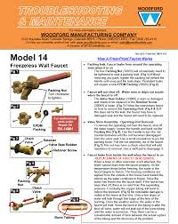 Frost Proof Faucet Parts Woodford Model 14 Freezeless Faucet