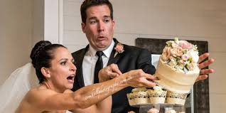 wedding cake disasters cutting the cake didn t go so well for this newlywed huffpost