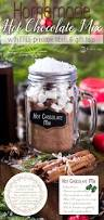 homemade chocolate mix gift idea with labels