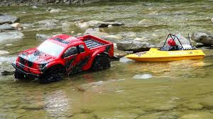 Ford Raptor Electric Truck - rc adventures ford raptor 4x4 u0026 modified nqd jet boat on the