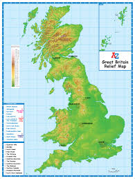 map of uk relief map of great britain a z maps