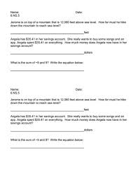 exit ticket 6 ns 5 5th 7th grade worksheet lesson planet