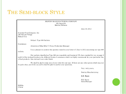 best solutions of semi block format of letter writing in template