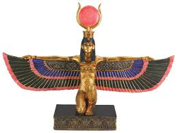 amazon com egyptian isis with open wings collectible figurine amazon com egyptian isis with open wings collectible figurine statue figure home kitchen