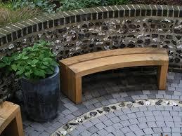 Curved Teak Garden Bench Curved Outdoor Bench Looks Wonderful U2014 The Homy Design