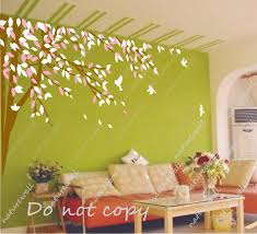 tree wall decals kids decals baby nursery room decor pink white