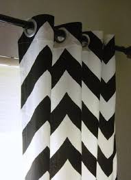 Chevron Panel Curtains Of 50 X 96 Black And White Large Bold Chevron By Sewpanache