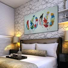 feather home decor wall decor 122 chic hand painted colorful wall decor abstract