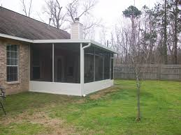 Backyard Screen House by Patio With Screen Porch In Magnolia Tx Lone Star