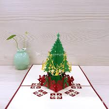 Christmas Tree Buy Online - vintage merry christmas tree 3d laser cut pop up paper handmade