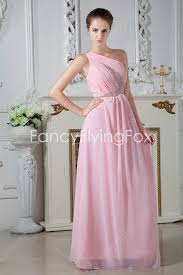 graduation dresses for high school pink one shoulder chiffon graduation dress for high school at