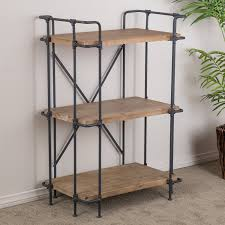 amazon com denise austin home brooklyn 3 shelf bookcase kitchen