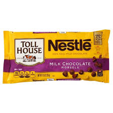 nestle toll house real milk chocolate chip morsels 12oz target