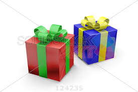 blue and yellow ribbon stock photo of two gift boxes paper with green ribbon blue