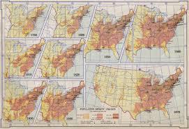Population Density Map Us Population Density 1790 1870