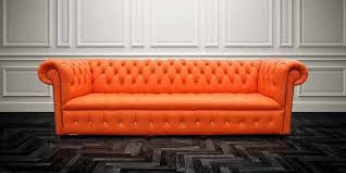 Orange Leather Sofa Buy Orange Leather Chesterfield Sofa Uk Designersofas4u
