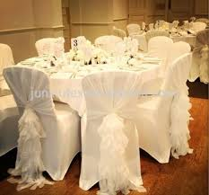 Chair Cover Sashes New Design Chiffon Ruffled Wedding Chair Cover Sash With Hood
