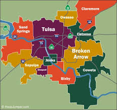map of tulsa a tulsa map for your easter weekend ktul
