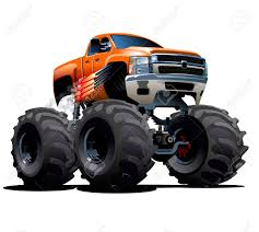 monster truck drag race vector cartoon monster truck available eps 10 vector format