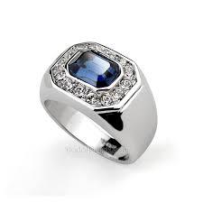 model cincin blue safir cincin perak pria gibabur blue sapphire pusat cincin kawin perak