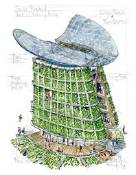 solar powered vertical farming eco house concept by frits