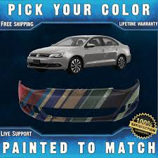 new painted to match front bumper cover for 2011 2014 volkswagen