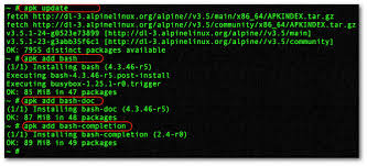 linux install apk how to install bash shell in alpine linux nixcraft