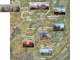 Map Of Northern Arizona by Sedona Red Rocks Map Identify Red Rock Formations In Sedona