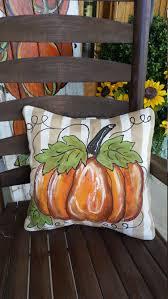 outdoor halloween pillows striped pillow sham fall pumpkin pillow 20 x 20 linen like