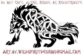 fierce celtic wolf by wildspiritwolf on deviantart