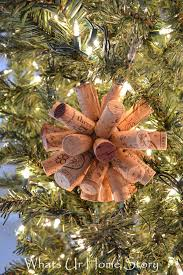 easy wine cork craft cork ornament wine holidays and cork