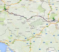 Zagreb Map From Zagreb To A Gas Station Near Ljubljana Balkans Hitchhiking
