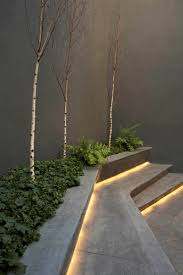 solar led outdoor stair lights in the garden artenzo