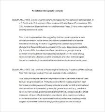 7 annotated bibliography templates u2013 free word u0026 pdf format