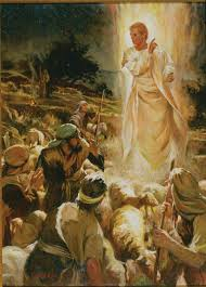 good tidings of great joy the angel appears to the shepherds