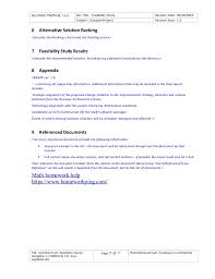 62285625 am feasibility study template 1