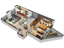 flats designs and floor plans 20 interesting two bedroom apartment plans home design lover