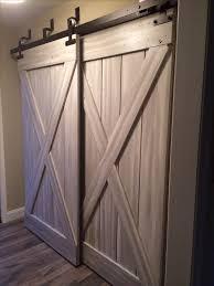 Sliding Barn Door For Closet Barn Door Bifold Closet Doors Pilotproject Org