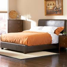 Leather Upholstered Bed Tamara California King Faux Leather Upholstered Bed