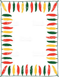 chile pepper lights border stock vector 165061455 istock