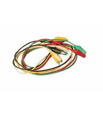connection wire with alligator clips red black yellow white