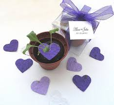 plantable paper plantable seed paper hearts diy wedding favors place cards