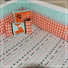 Nursery Crib Bedding Sets by Dkl Designs Clever As A Fox Crib Bedding Set