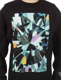 diamond supply co diamond supply co simplicity box sweatshirt black clothing