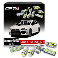 amazon com opt7 8pc interior led replacement light bulbs package