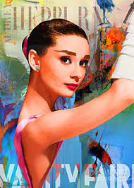 Vanity Fair Prints For Sale Audrey Hepburn Vanity Fair Painting By Sheila Elsea