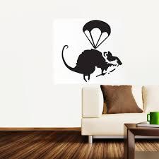 online buy wholesale banksy wall stickers from china banksy wall helicopter rat banksy wall stickers mural wallpaper wall art 45 46cm
